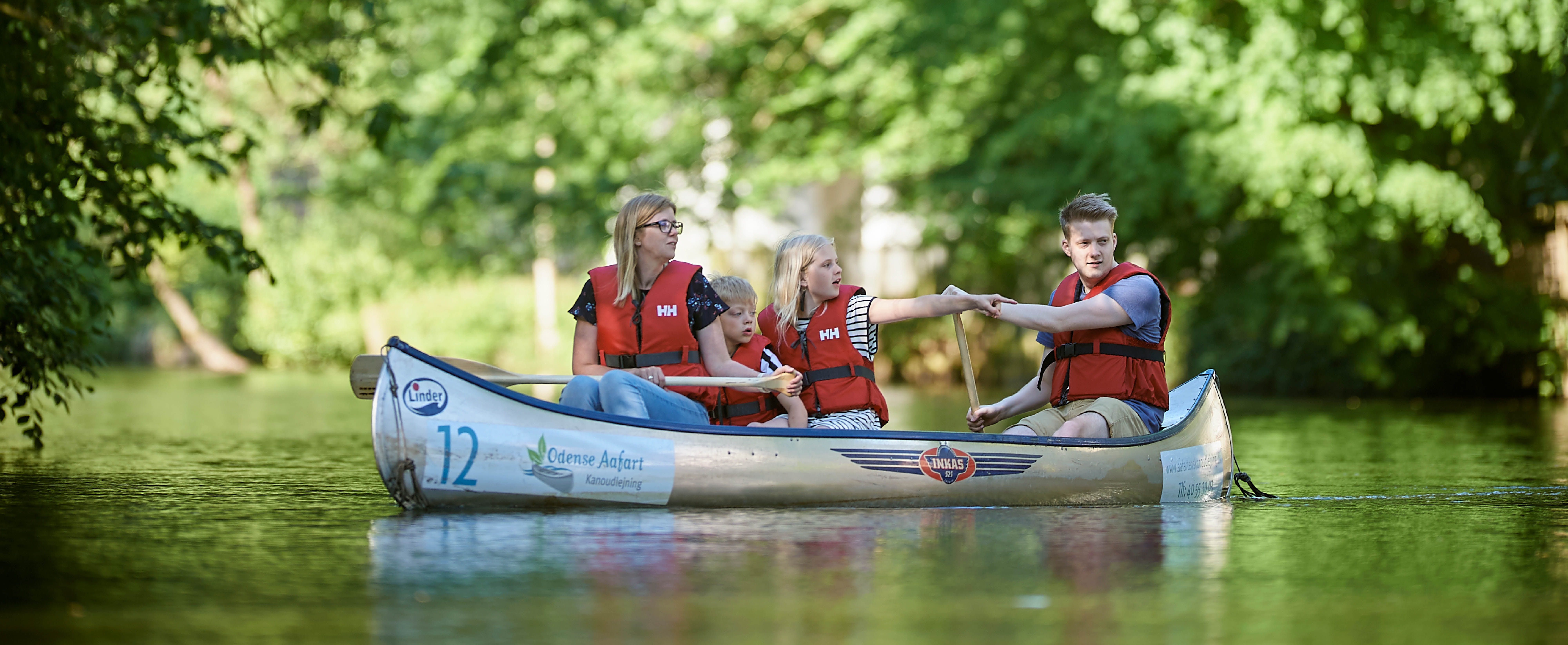 Family Canoeing Trip on Odense River